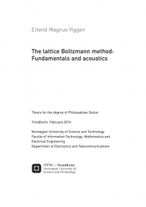 Thesis cover of The lattice Boltzmann method: Fundamentals and acoustics
