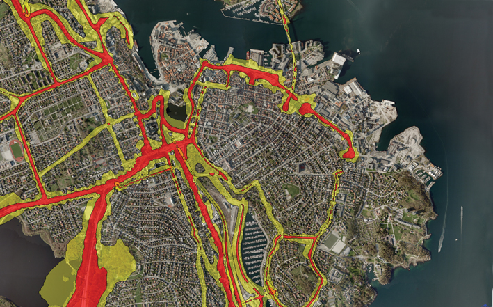 Noise map of Stavanger